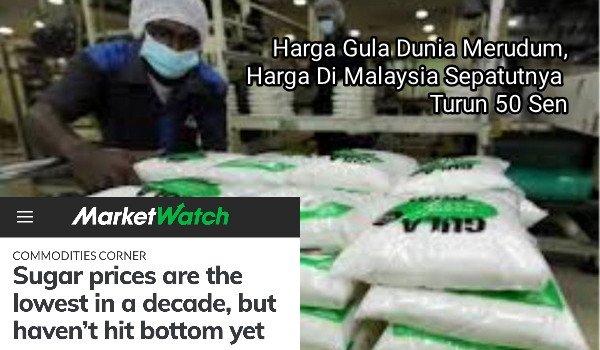 Harga Gula Dunia Merudum, rejim PH Senyap-Senyap Tax rakyat