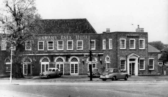 Postcard of the Brookmans Park Hotel in the 1960s - image from Ron Kingdon