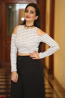 Manjusha in sleevelss crop top and black skirt at Darshakudu pre release ~  Exclusive Celebrities Galleries 074.JPG