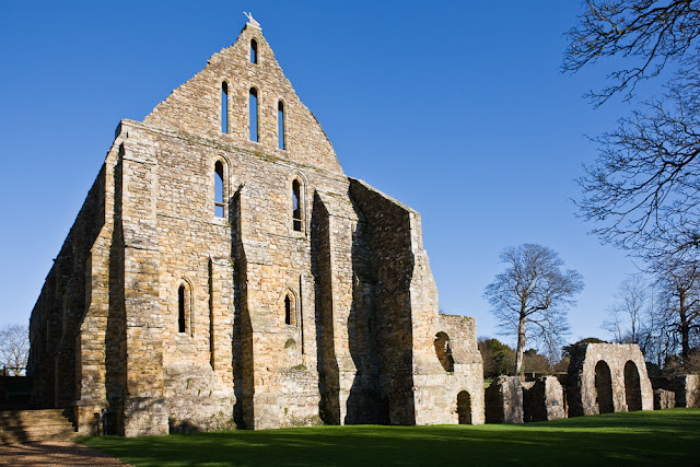 The Battle Abbey Dormitory ruins remain some of the best preserved sections of the abbey. Photo: WikiMedia.org.
