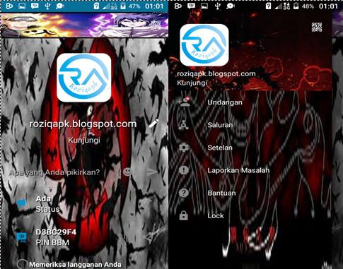 BBM Mod Uchiha Itachi Clone & Unclone