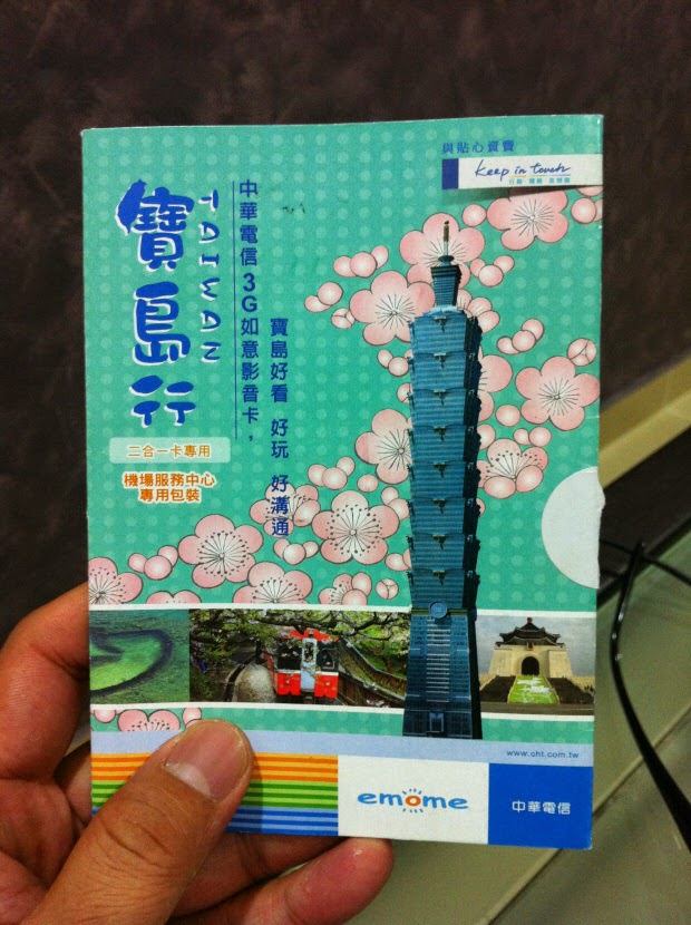 Mobile plan for tourists in Taiwan