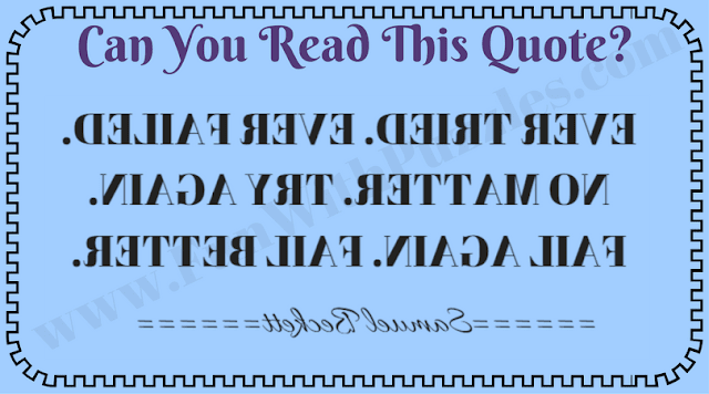 Mind Test for backward Reading