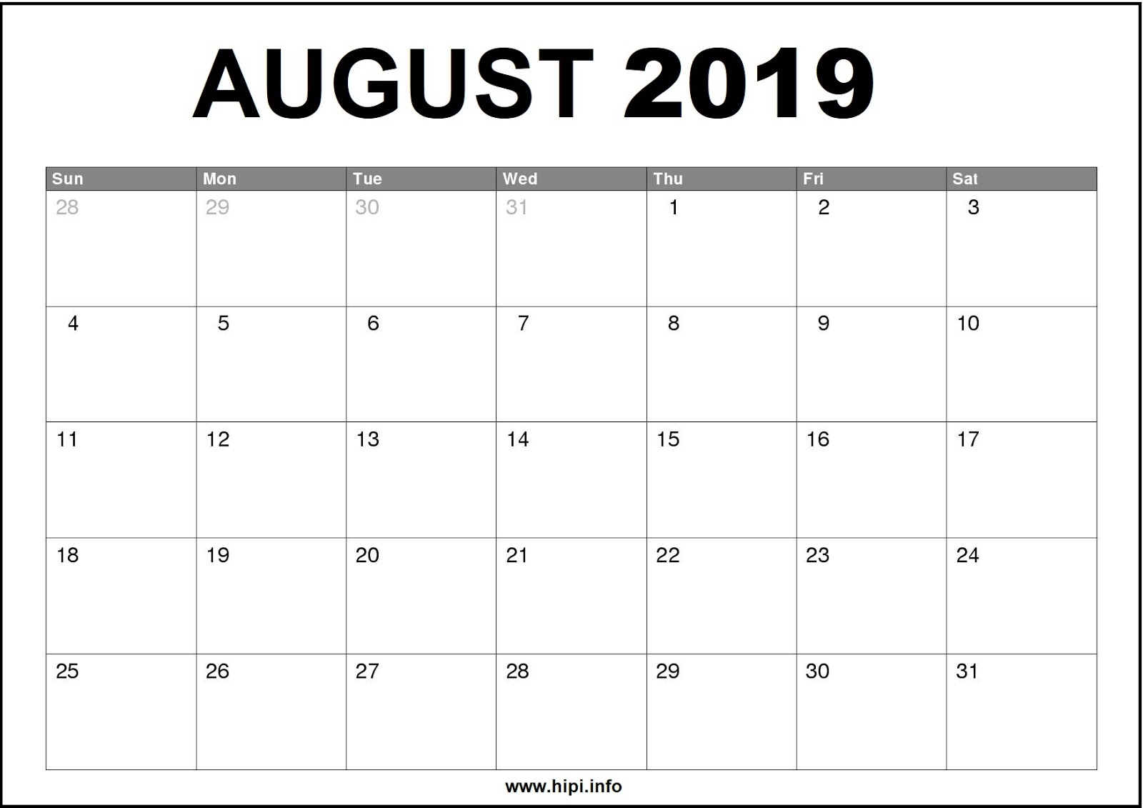 photograph relating to Printable Monthly Calendar August referred to as Twitter Headers / Fb Addresses / Wallpapers / Calendars