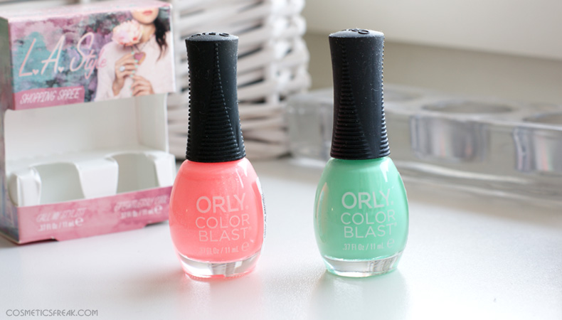 orly color blast shopping spree