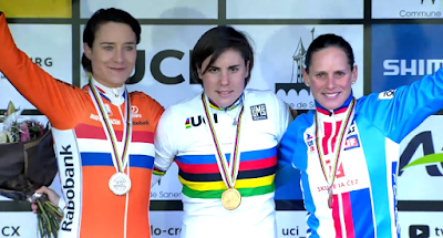 Podium Championnat monde cyclo-cross Vos Cant Nash