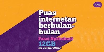 Paket Ngabuburit Axis - Puas Internetan Dengan Kuota Besar Setiap Bulan