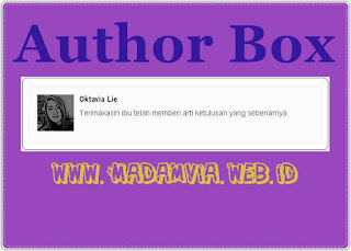 Cara Membuat Widget Author Box Di Bawah Posting Blog