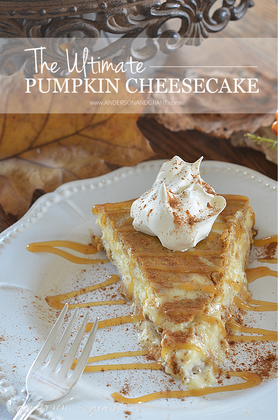 For a delicious twist on the traditional pumpkin pie for Thanksgiving, why not try this recipe for the Ultimate Pumpkin Cheesecake | www.andersonandgrant.com