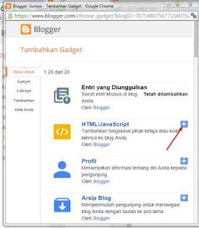 Cara Menambahkan dan Memasang Widget atau Gadget di blog
