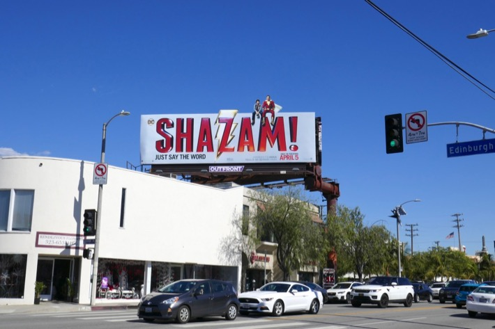 Shazam film billboard