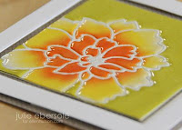 Die cut impression heat embossing - video  - Julie Ebersole