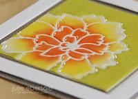 Die cut impression heat embossing - video  - Julie Ebersole
