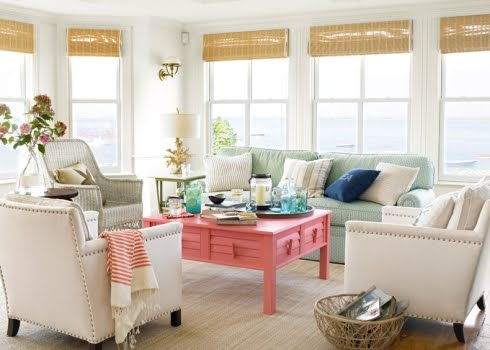 decorating with summer colors