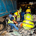One dies as gravel truck falls on a car at Ojuelegba