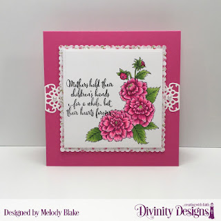 Divinity Designs Stamp Set: Daughter's Best Friend, Custom Dies: Flower Lattice, Scalloped Squares, Squares, Paper Collection:Pretty Pink Peonies