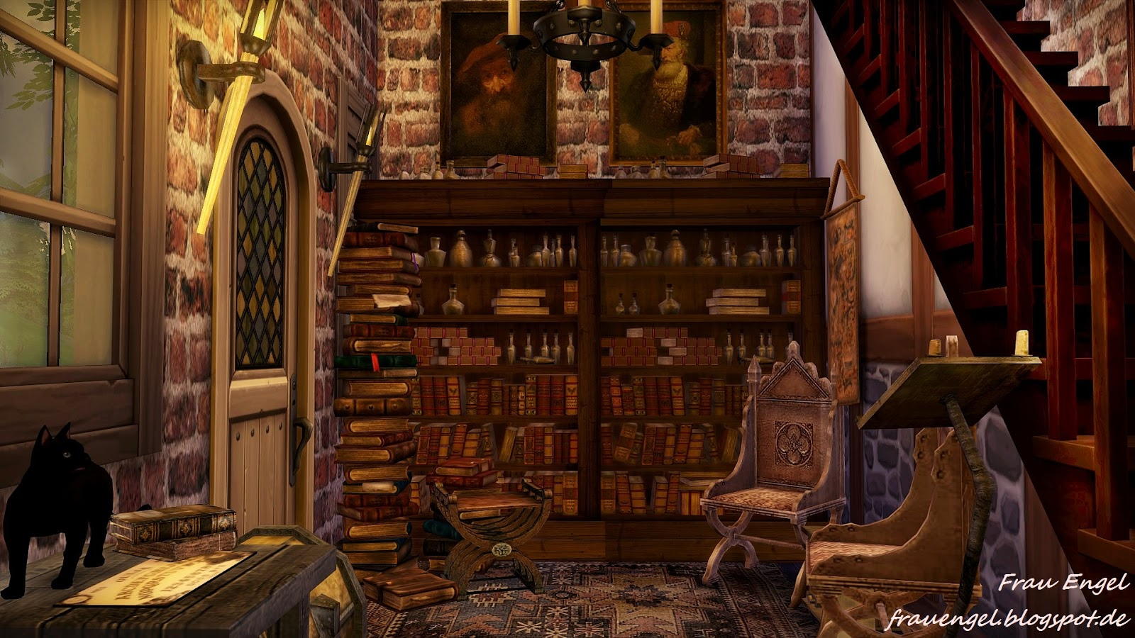 Amazing Falls Wallpaper Frau Engel Ts4 Witch House