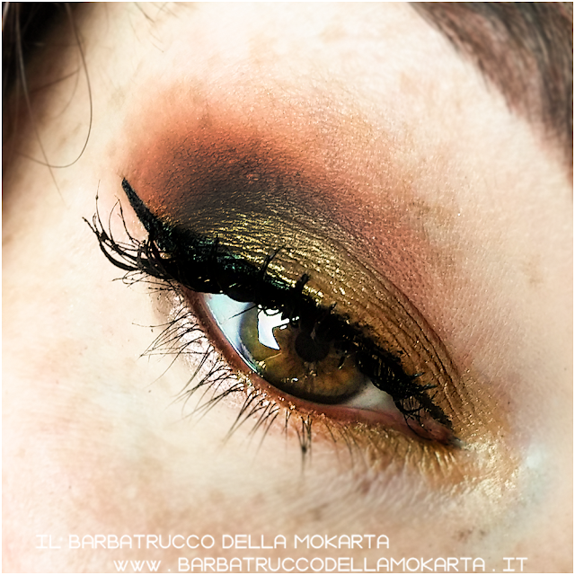 makeup  gold ombretto eyeshadow Purobio Cosmetics
