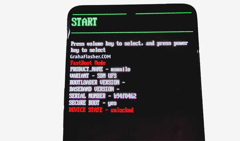 Fastboot mode Realme