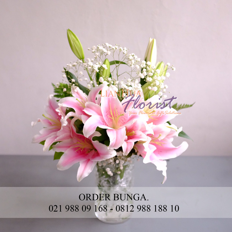 Bunga Meja Lily Segar aa06f6286a