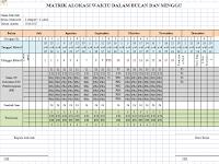 Matrik Alokasi Waktu Pembelajaran Kelas 4 SD Kurikulum 2013