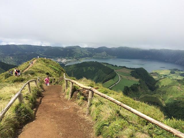 Vulcão Água de Pau em Açores