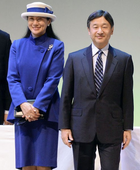Crown Princess Masako style wore coat dress, diamond tiara, diamond gold earring, cluthbag, Gianvito Rossi shoes, fashion newmyroyals, style royal