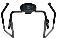 LCD digital monitor, pulse grip sensors in side handles & swing lever arms on Sunny Health & Fitness SF-T7615 treadmill