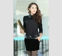 Model Baju Kemeja Wanita Warna Hitam Modern Terbaru
