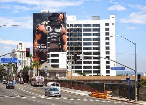 Giant Hercules movie billboard Sunset Strip