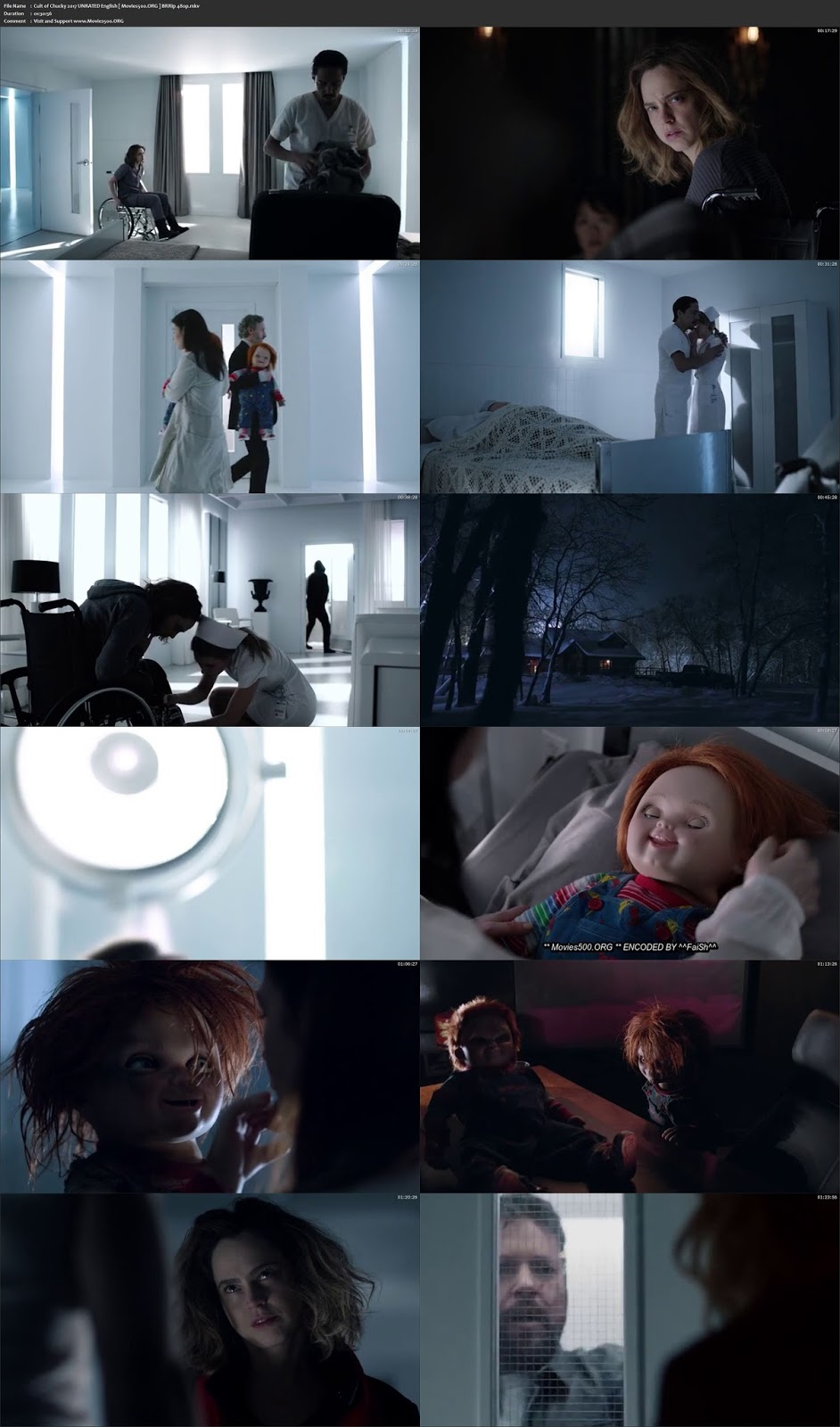 Cult of Chucky 2017 Hollywood 260MB Movie BRRip 480p at movies500.site