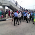 Lady Brutalized And Arrested As Buhari Visits Lagos For Trying To Use A Bridge That Was Shut Down