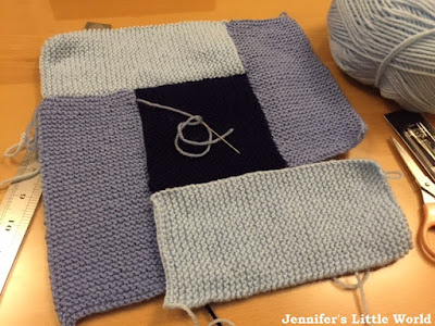 Knitting a square for a collaborative blanket