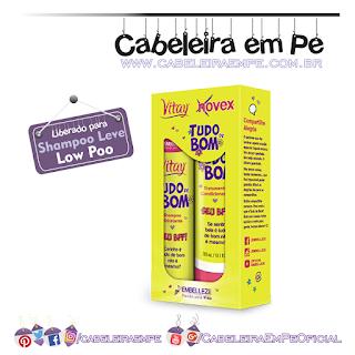Shampoo (Low Poo) e Condicionador (No Poo) Tudo de Bom - Novex