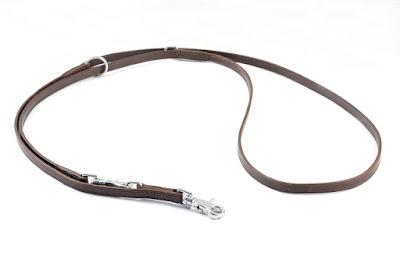 Guinzaglio regolabile da addestramento con moschettoni in inox, larghezza 12 mm lunghezza 2.4 m