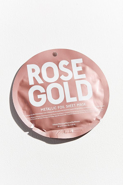 Rose gold sheet face mask