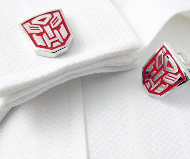 Transformer Autobot cufflinks Red Sliver Cuff Links