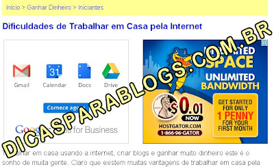 AdSense nos Titulos dos Posts do Blogger