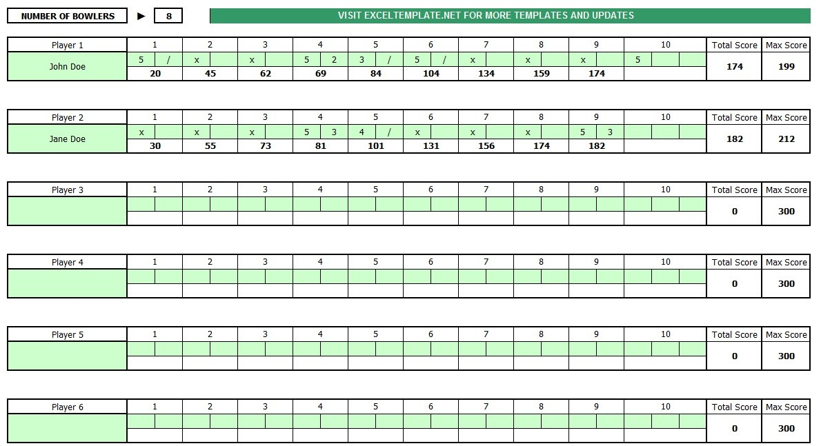 graphic relating to Printable Bowling Score Sheet named Very simple Printable bowling rating sheet with pins