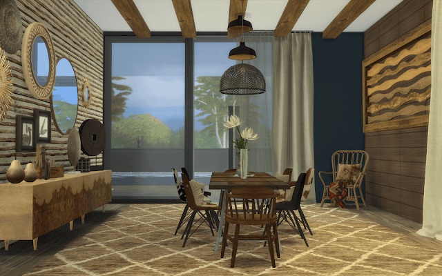 chalet moderne sims 4