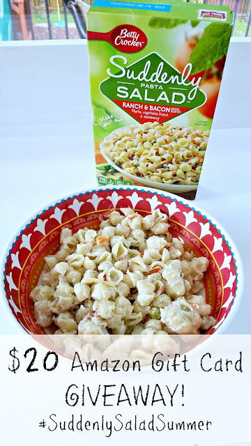 Soooooo many super easy and delicious pasta salads AND a $20 Amazon Giveaway (ends July 12, 2016)! Make it a #SuddenlySaladSummer! :)