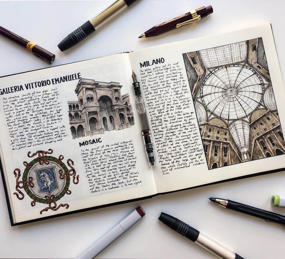 11-Galleria-Vittorio-Emanuele-Oğuzhan-Çengel-European-Heritage-Architectural-Drawings-www-designstack-co
