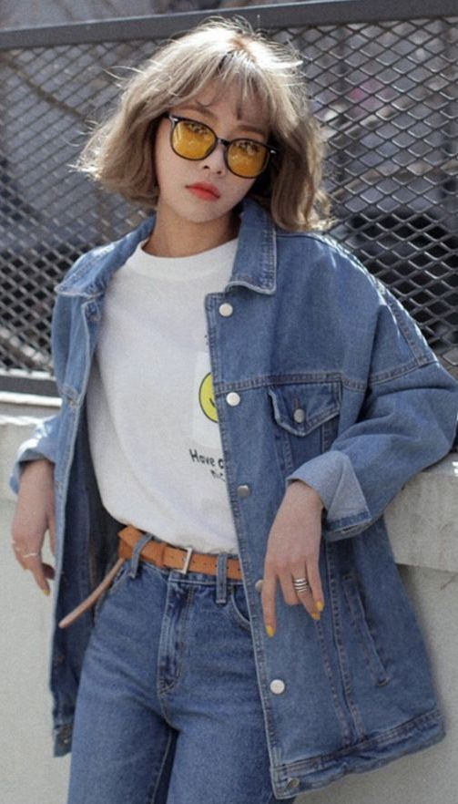 denim inspiration   jacket + jeans and white t-shirt