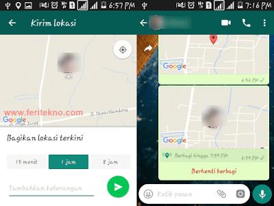 Cara Mengirim Lokasi Saat Ini Kita Berada di WhatsApp 4