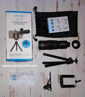 Lensa portable ini ialah istilah lensa yang diperuntukkan bagi smartphone Review Lensa Tele untuk Smartphone: Apexel APL-T18ZJ 18x Telephoto Lens