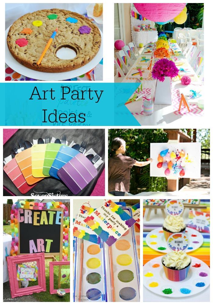 13 Art Party Ideas A Glimpse Inside