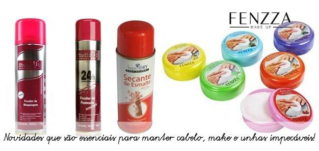 Produtos de beleza na Fenzza Make Up
