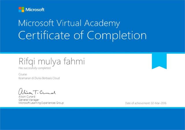sertifikat MVA microsoft