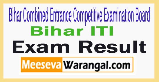 Bihar ITI Result 2017 BCECEB ITICAT Cutoff Marks