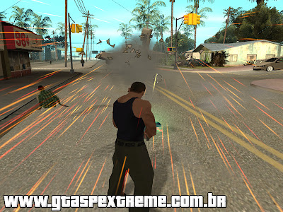 Arma de Gravidade Cleo Mod para GTA San Andreas